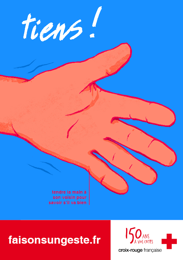 Illustration et affiche pour la Croix-Rouge