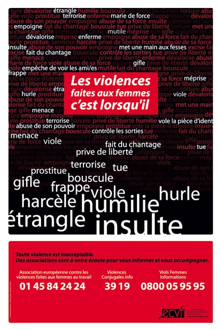 Affiche Contre les Violences Faites aux Femmes