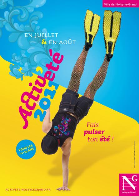 Affiche Activ'été pour Noisy-le-Grand © Marie Planques