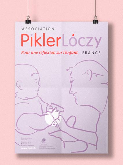 Affiche pour Association Pikler Lóczy – France